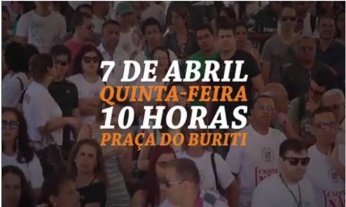 ATO PÚBLICO COM PARALISAÇÃO - 6 MESES DE CALOTE - 07/04