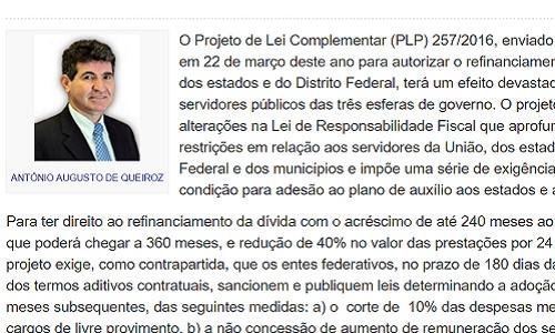 NOVO ATAQUE AOS SERVIDORES - Artigo de Antônio Augusto de Queiroz