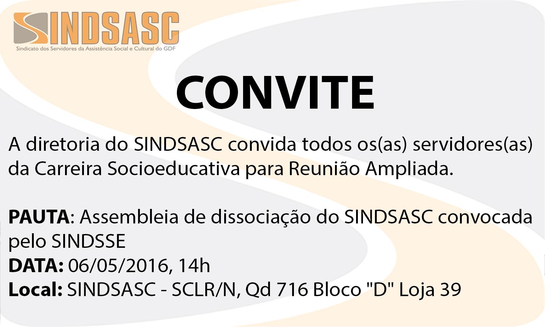 CONVITE - CARREIRA SOCIOEDUCATIVA