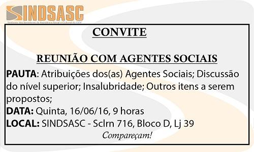 REUNIÃO COM AGENTES SOCIAIS