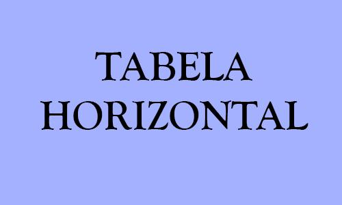 DISCUSSÃO SOBRE A TABELA HORIZONTAL