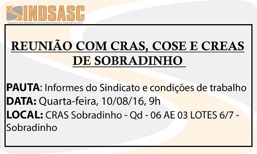 REUNIÃO COM CRAS, COSE E CREAS DE SOBRADINHO